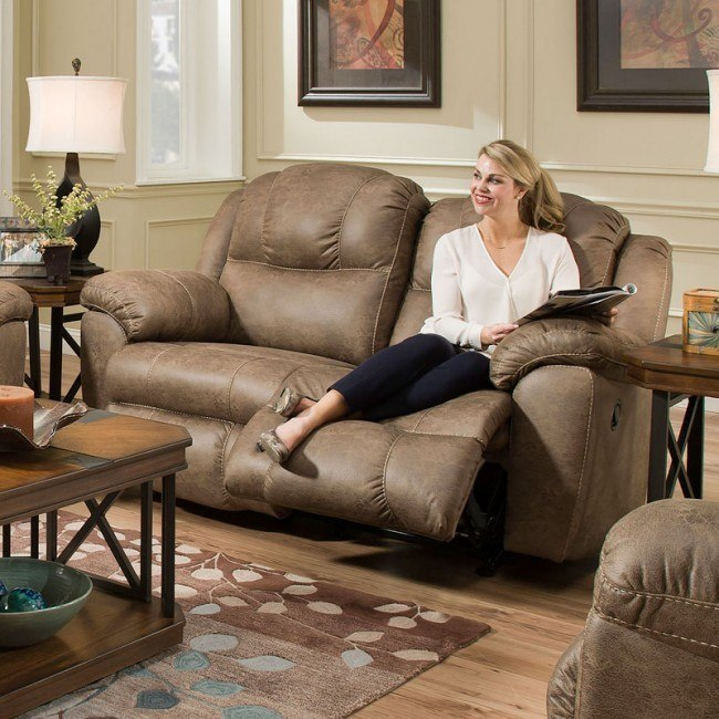 Magnificent Victory Rocking Reclining Loveseat Commodore Tan Squirreltailoven Fun Painted Chair Ideas Images Squirreltailovenorg