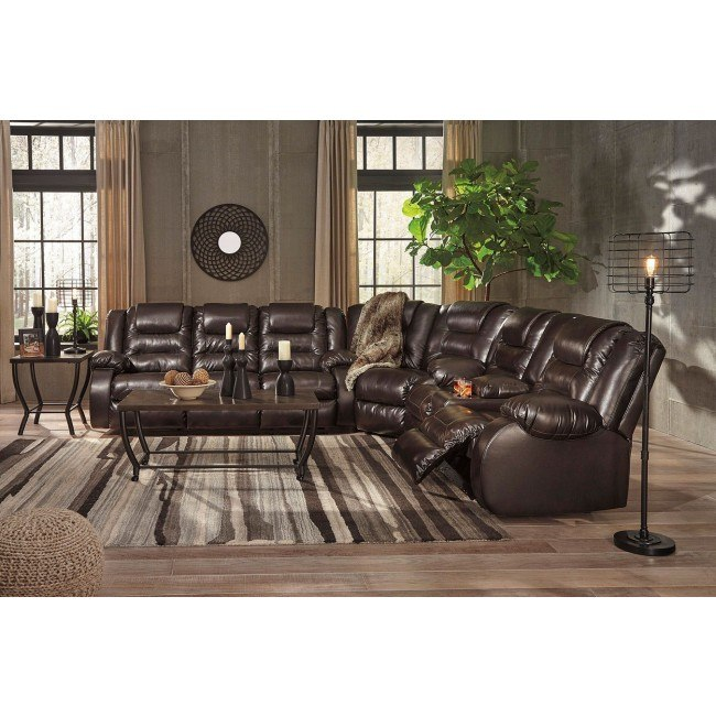Awesome Vacherie Chocolate Reclining Sectional Set Gmtry Best Dining Table And Chair Ideas Images Gmtryco