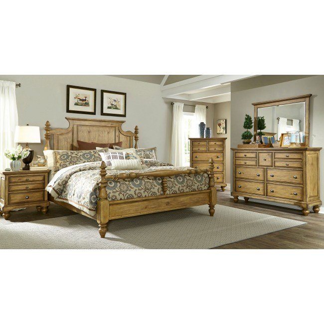 High Country Poster Bedroom Set (Honey Spice)