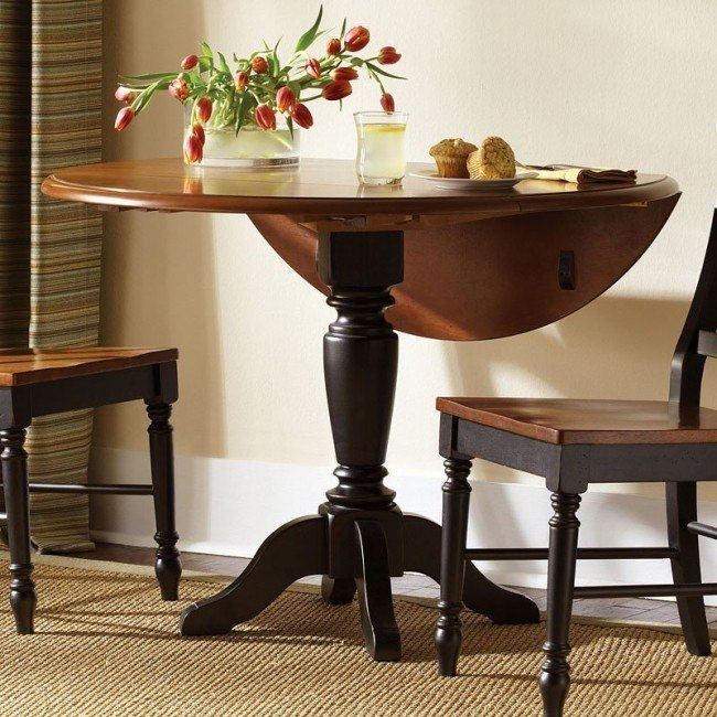 Low Country Drop Leaf Dining Table (Black)