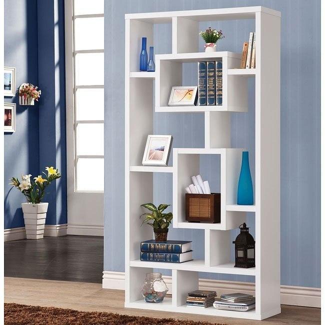 White Modern Bookshelf Coaster Furniture Furniture Cart