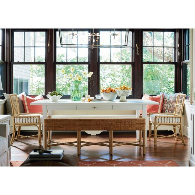 Escape Cottage Dining Room Set W Clearwater Low Arm Chairs
