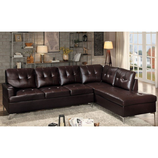 Wondrous Barrington Right Chaise Sectional Brown Pabps2019 Chair Design Images Pabps2019Com
