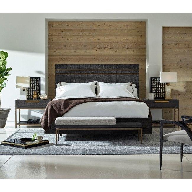 Modern Onyx Beatty Panel Bedroom Set Universal Furniture