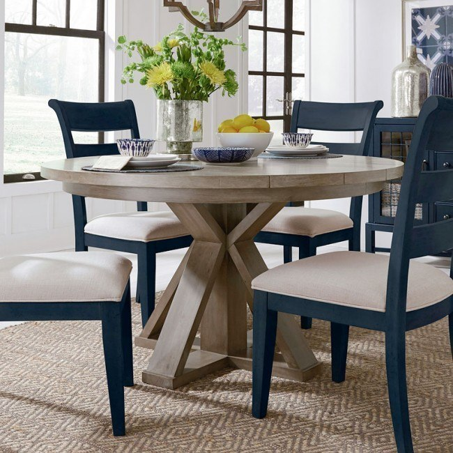 Breckenridge Round Dining Table Legacy Classic Furniture Cart