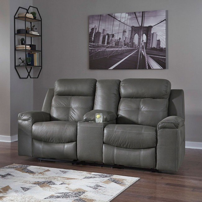 Fabulous Jesolo Dark Gray Reclining Loveseat W Console Bralicious Painted Fabric Chair Ideas Braliciousco