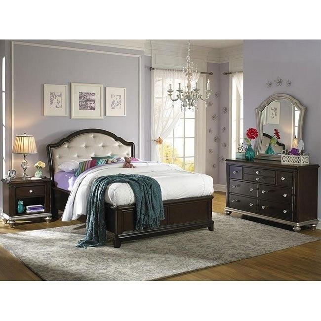 Girls Glam Panel Bedroom Set