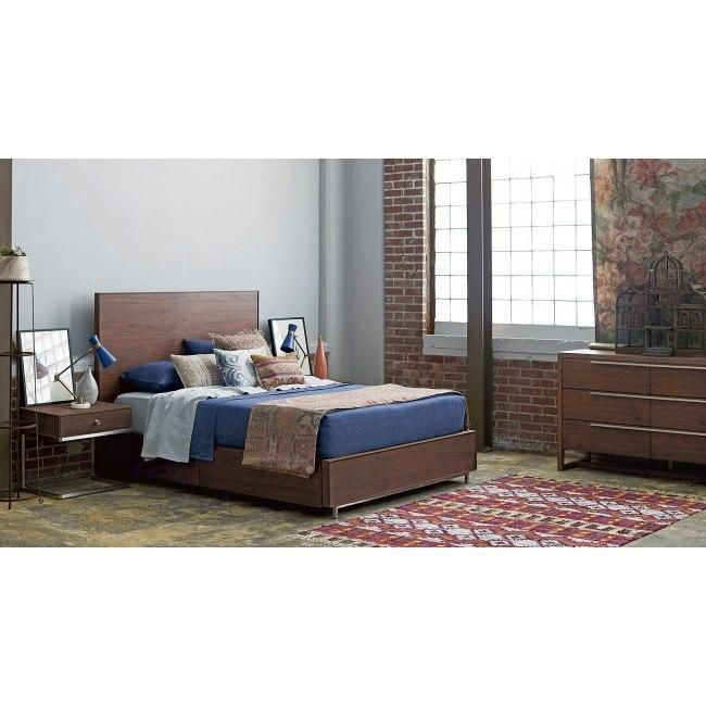 Spaces Tanner Storage Bedroom Set Walnut Universal Furniture