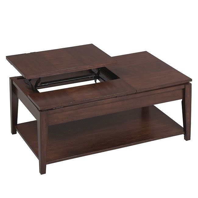 877 Series Double Lift Top Cocktail Table Catnapper Furniture Cart