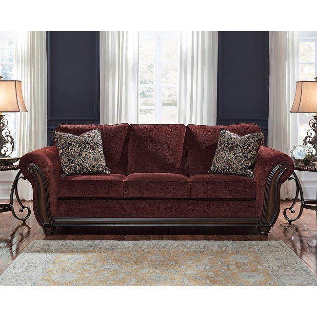 Chesterbrook Burgundy Sofa