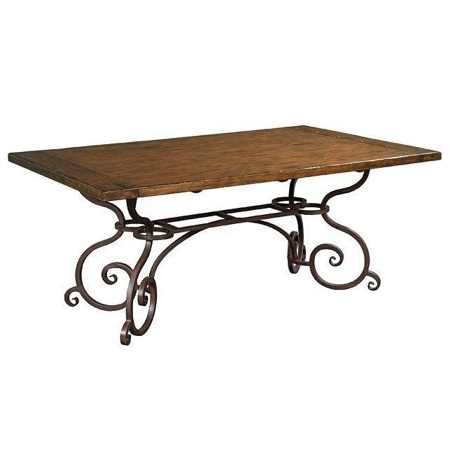 Outstanding Artisans Shoppe 72 Inch Rectangular Table W Metal Base Tobacco Creativecarmelina Interior Chair Design Creativecarmelinacom