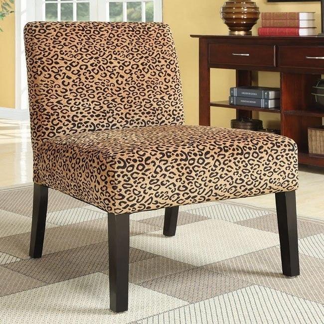 Terrific Leopard Pattern Accent Chair Beatyapartments Chair Design Images Beatyapartmentscom