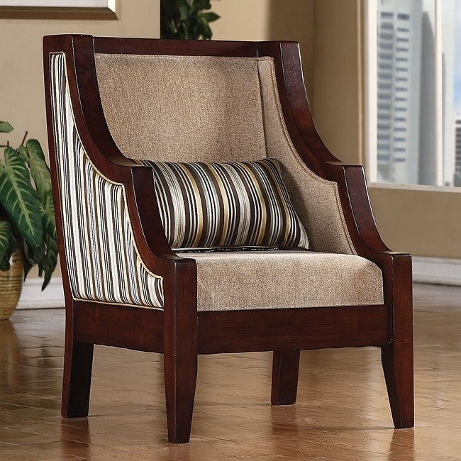 Astounding Striped Accent Chair Blue Yellow Machost Co Dining Chair Design Ideas Machostcouk