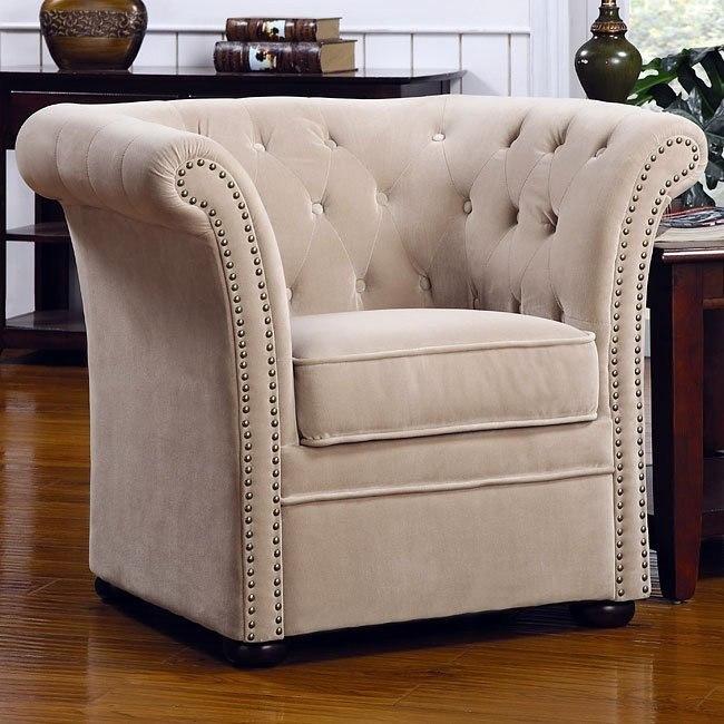 High Back Chair Cream