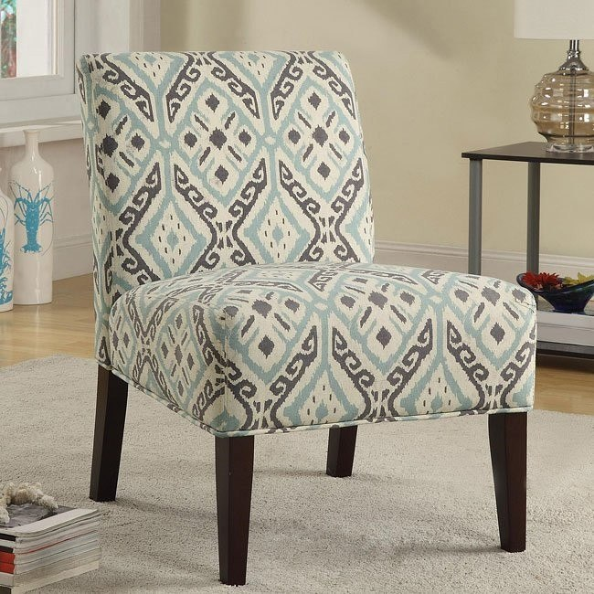 Brown And Teal Accent Chair Coaster Furniture Furniture Cart