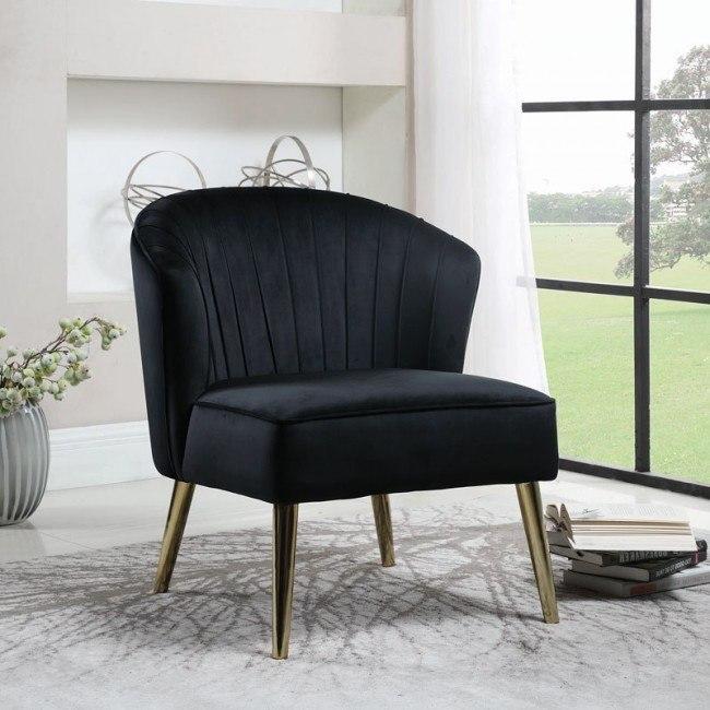 Super Black Velvet Accent Chair Machost Co Dining Chair Design Ideas Machostcouk