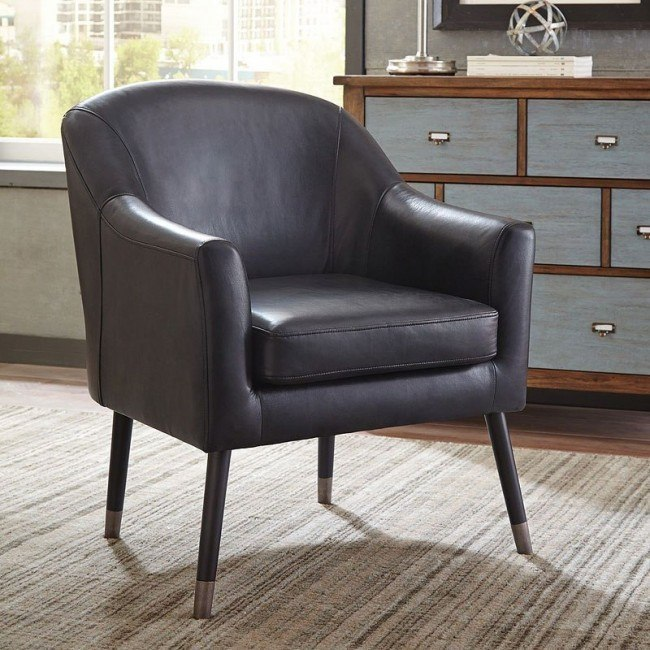 Groovy Black Vegan Leather Accent Chair Ocoug Best Dining Table And Chair Ideas Images Ocougorg