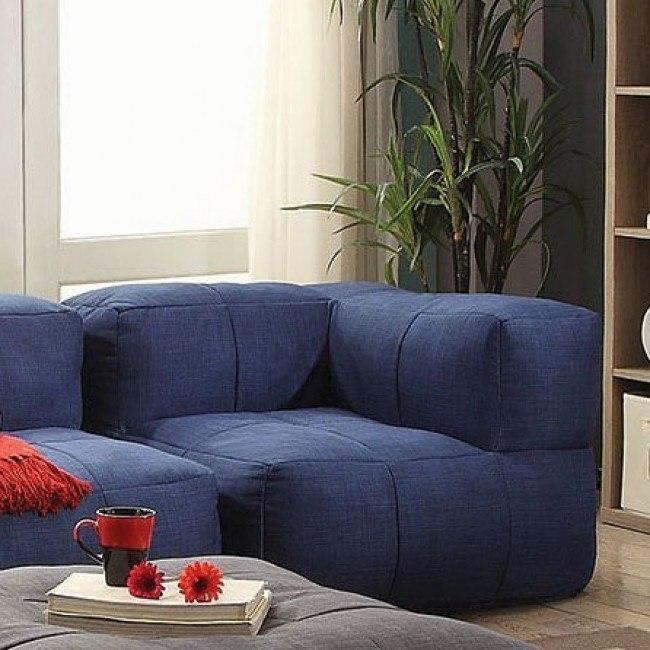 Superb Lazy Life Corner Navy Machost Co Dining Chair Design Ideas Machostcouk