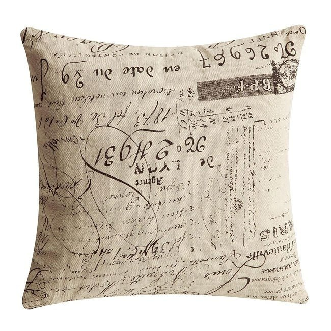 Stupendous French Script Accent Pillow Set Of 2 Ibusinesslaw Wood Chair Design Ideas Ibusinesslaworg