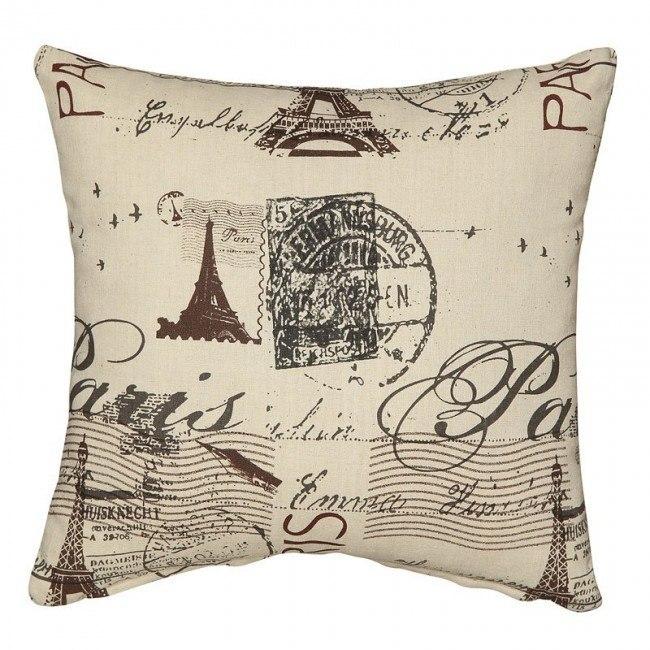 Wondrous Beige French Script Accent Pillow Set Of 2 Ibusinesslaw Wood Chair Design Ideas Ibusinesslaworg