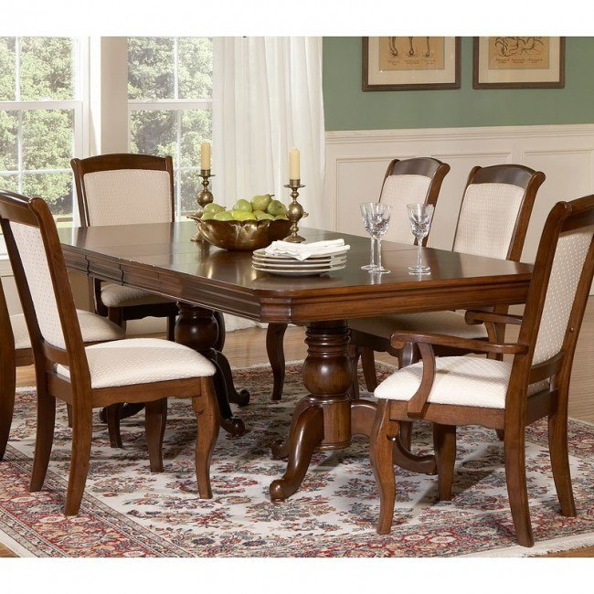 Louis Philippe Double Pedestal Dining Table