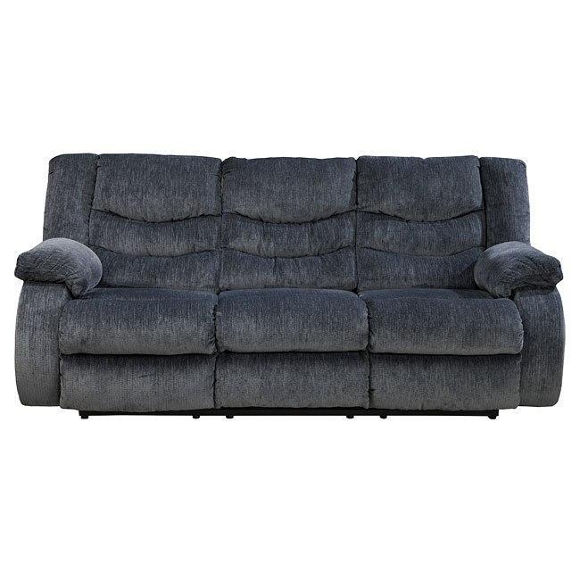 Garek Blue Reclining Sofa