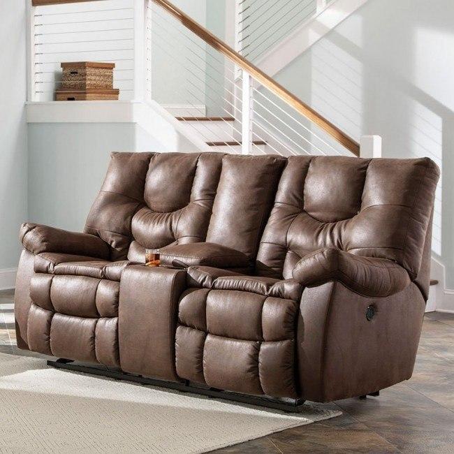 Superb Burgett Espresso Glider Reclining Loveseat W Console Uwap Interior Chair Design Uwaporg
