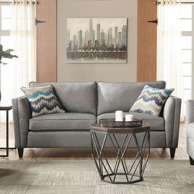 Awesome Gunmetal Sofa Hughes Furniture