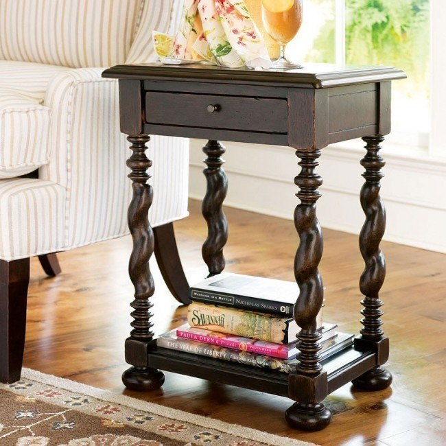Fabulous Paula Deen Home Sweet Tea Side Table Tobacco Pabps2019 Chair Design Images Pabps2019Com