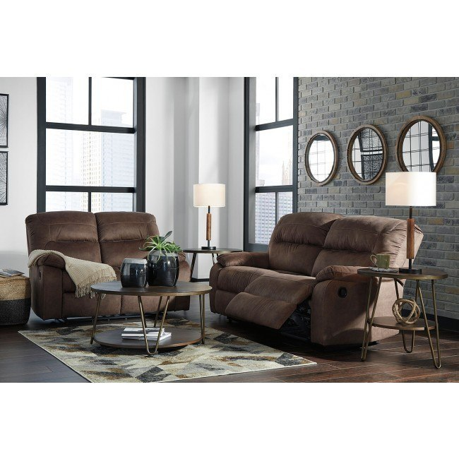 Bolzano Coffee Reclining Living Room Set Signature Design Furniture Cart