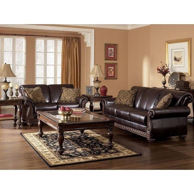 Brentwood Mahogany Living Room Set
