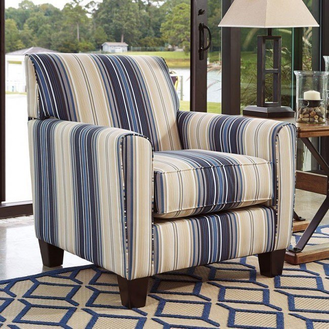 Sensational Ayanna Nuvella Indigo Accent Chair Gmtry Best Dining Table And Chair Ideas Images Gmtryco