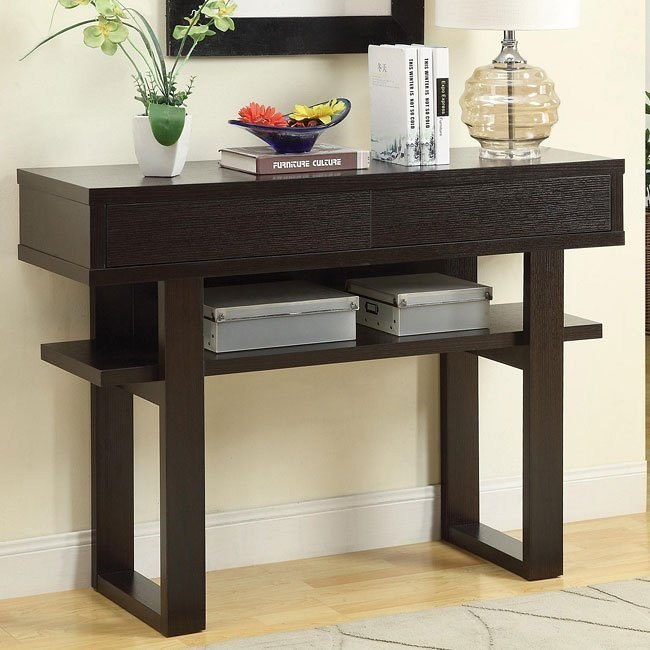 Surprising Cappuccino Console Table W Swing Drawers Alphanode Cool Chair Designs And Ideas Alphanodeonline