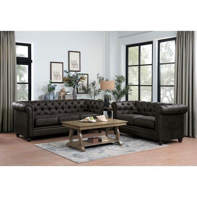 Wallstone Living Room Set Brown Homelegance Furniture Cart