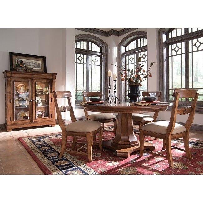 Tuscano Round Pedestal Dining Room Set Kincaid Furniture