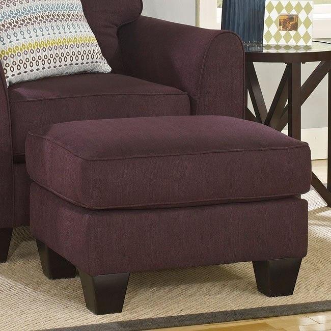 Incredible Ean Eggplant Ottoman Evergreenethics Interior Chair Design Evergreenethicsorg