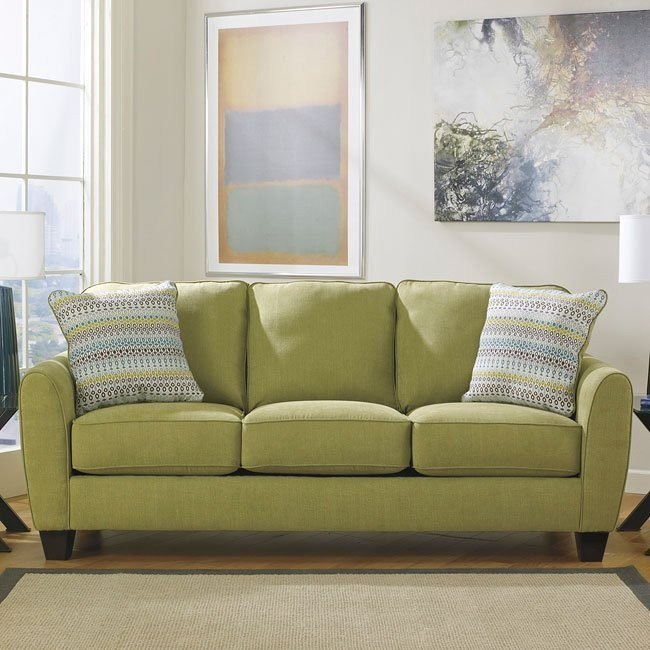 Ean Lime Sofa Benchcraft Furniture Cart