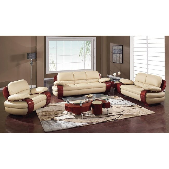 965 Cappuccino Modern Living Room Set