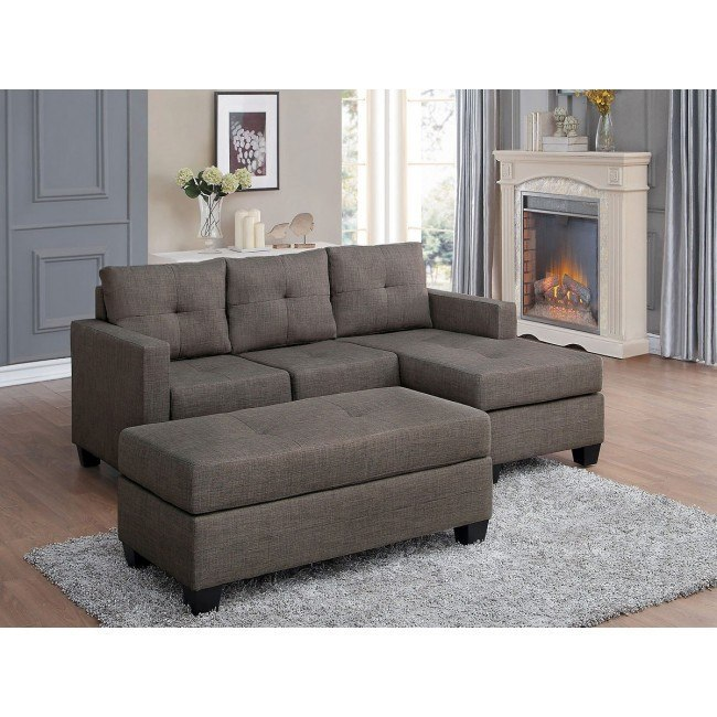 Surprising Phelps Sofa Chaise Set Brownish Gray Inzonedesignstudio Interior Chair Design Inzonedesignstudiocom