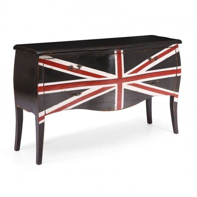 Union Jack Large Cabinet (Distressed Black) on light bulb chandelier modern, elite modern, nuevo modern, zen modern,