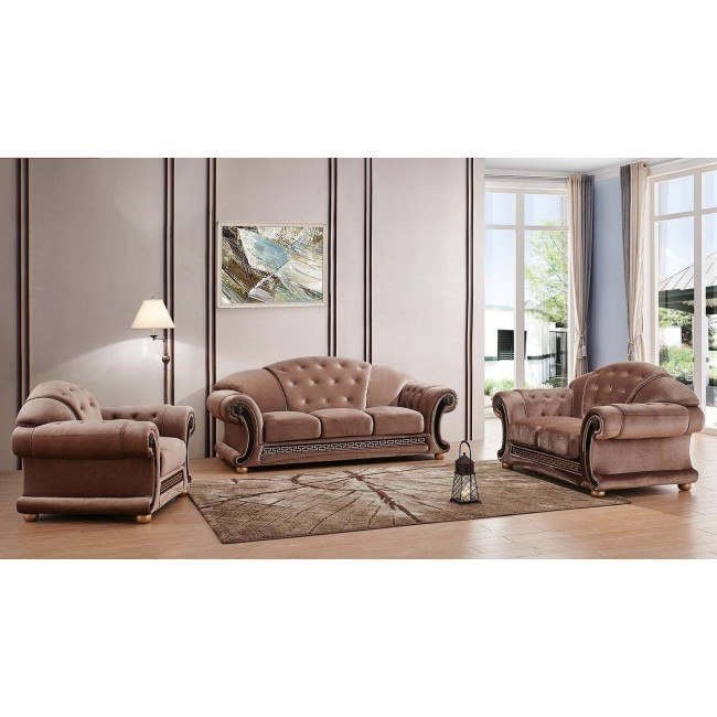 Apolo Living Room Set (Microfiber) ESF Furniture