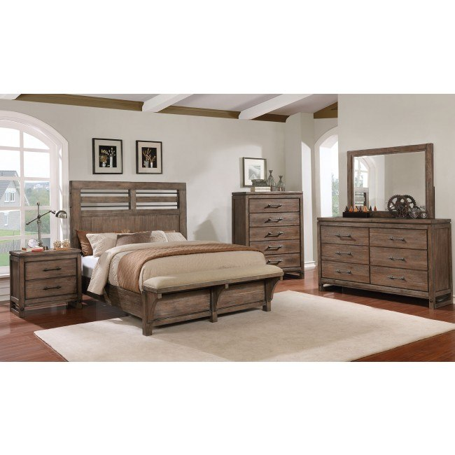 Fantastic Round Rock Panel Bedroom Set W Bench Squirreltailoven Fun Painted Chair Ideas Images Squirreltailovenorg