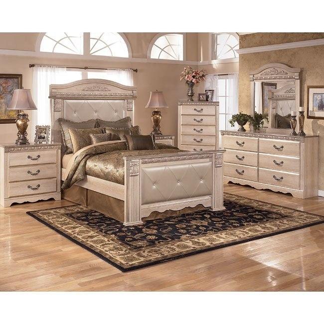 silverglade mansion bedroom set signature design | furniture