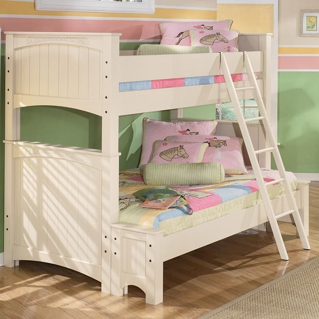 Cottage Retreat Twin Over Full Bunk Bed Signature Design Furniture Cart