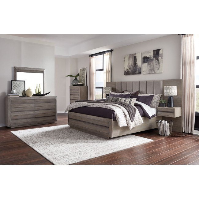 Palisade Upholstered Panel Wall Bedroom Set Magnussen