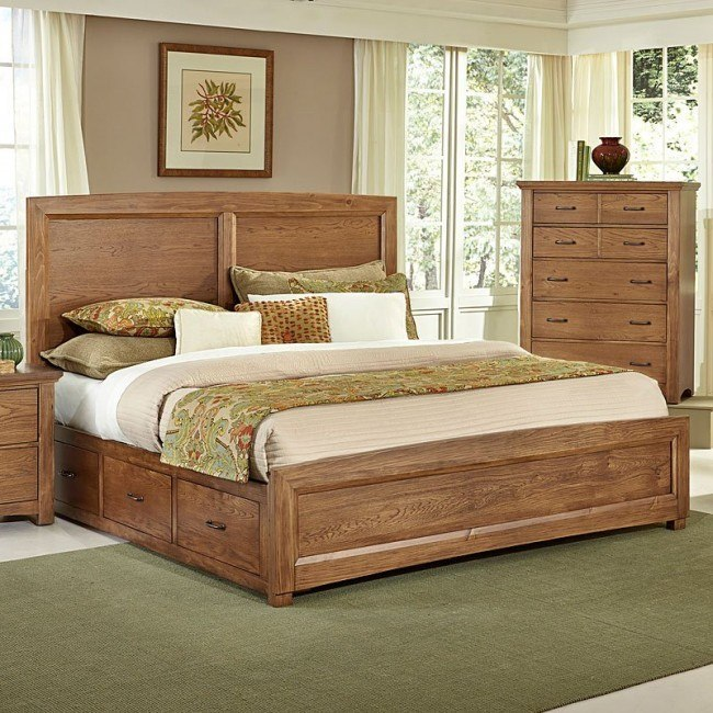 Transitions Bed w/ Two Storages (Dark Oak)
