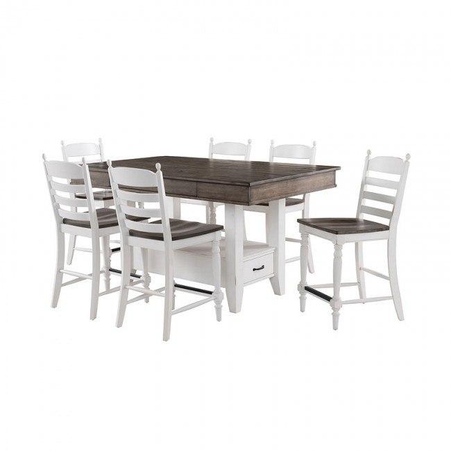 Belgium Farmhouse Trestle Counter Height Dining Set Intercon Furniture Furniture Cart