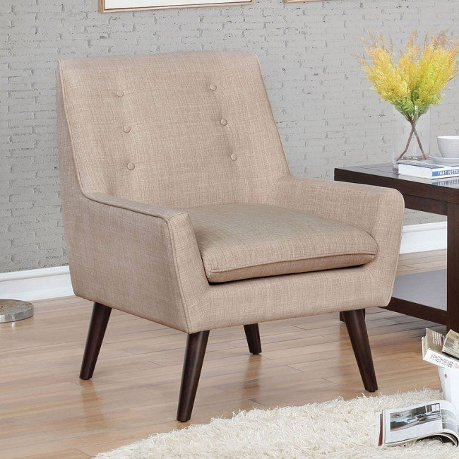 Incredible Ellery Accent Chair Beige Gmtry Best Dining Table And Chair Ideas Images Gmtryco