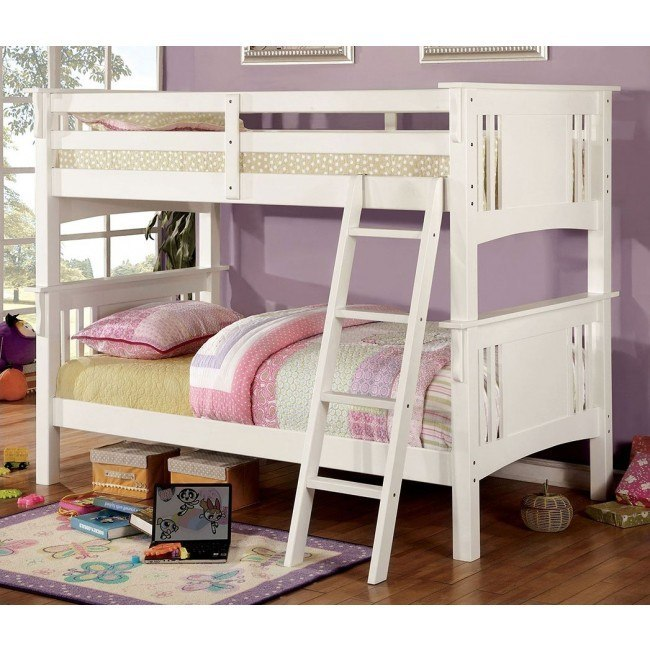Spring Creek Bunk Bedroom Set (White)