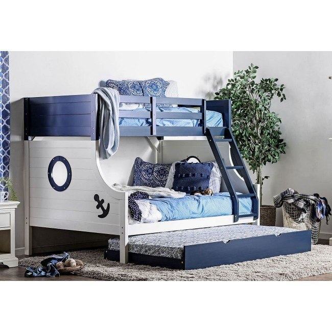 Nautia Twin Over Full Bunk Bed Furniture Of America 2 Reviews Furniture Cart